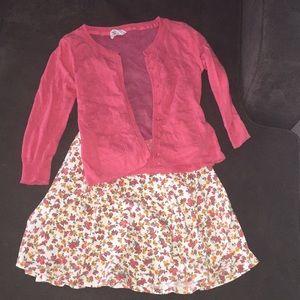 Other - Bundle cardigan & Skirt Juniors